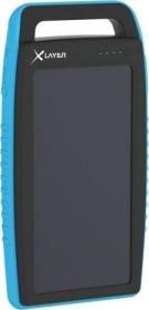 XLayer Powerbank Plus Solar 15000 schwarz/blau (215774)