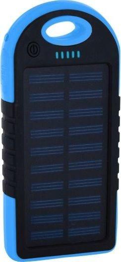 XLayer Powerbank Plus Solar 4000 schwarz/blau (215897)