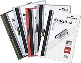 Durable Duraclip 30 Klemm-Mappe A4, weiß, 25er-Pack (220002#25)