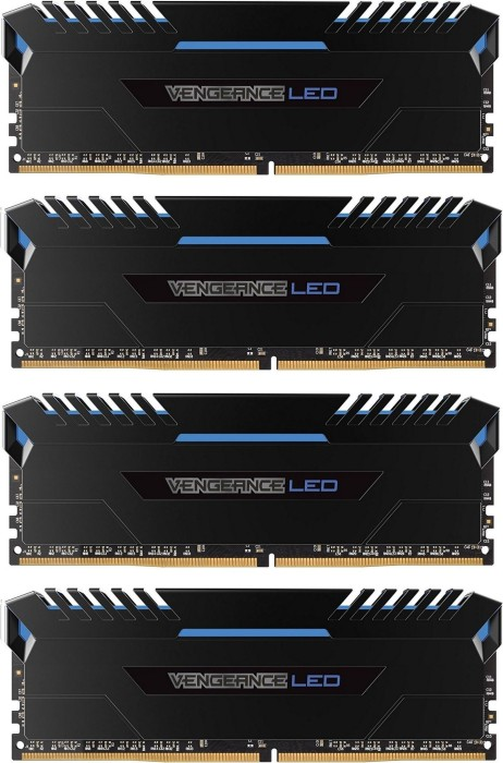 Corsair Vengeance LED blue DIMM kit 32GB, DDR4-3000, CL16-20-20-38 (CMU32GX4M4D3000C16B)