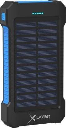 XLayer Powerbank Plus Solar 8000 schwarz/blau (215869)