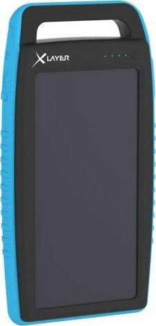XLayer Powerbank Plus Solar 10000 schwarz/blau (215772)