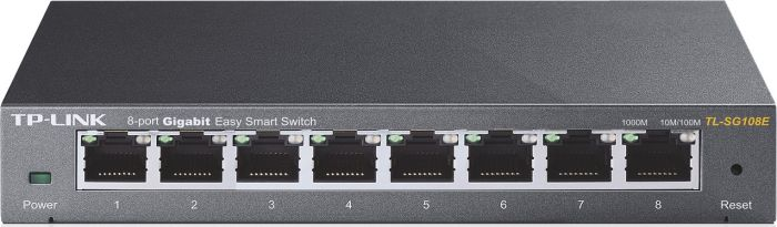 TP-Link TL-SG10 Desktop Gigabit Easy Smart Switch, 8x RJ-45 (TL-SG108E)