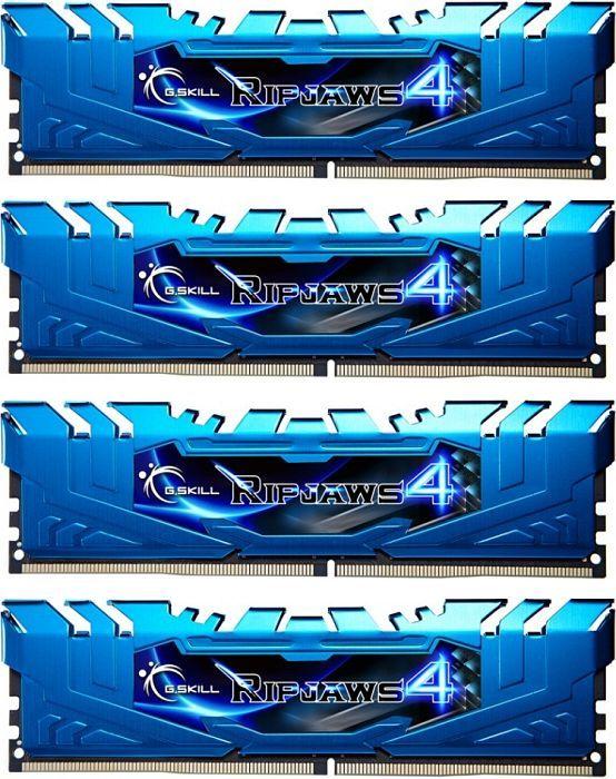 G.Skill RipJaws 4 blue DIMM kit 16GB, DDR4-2666, CL16-16-16-36 (F4-2666C16Q-16GRB)