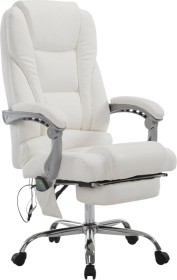 CLP Pacific mit Kunstlederbezug/Massagefunktion Bürostuhl, weiß (191809302)