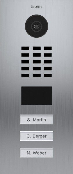 DoorBird D2103V IP Video door terminal with 3 Ruftasten