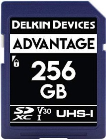 Delkin Advantage 633X R90/W90 SDXC 256GB, UHS-I U3, Class 10 (DDSDW633256G)
