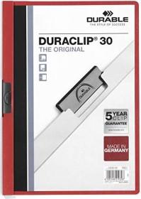Durable Duraclip 30 Klemm-Mappe A4, rot, 25er-Pack (220003#25)