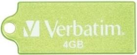Verbatim Store 'n' Go Micro grün 4GB, USB-A 2.0 (47418)