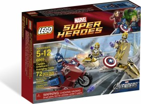 LEGO Marvel Super Heroes Play Set - Captain Americas Avenging Cycle (6865)