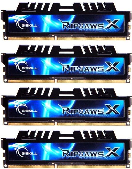 G.Skill RipJawsX schwarz DIMM Kit 8GB, DDR3-1333, CL7-7-7-21 (F3-10666CL7Q-8GBXH)