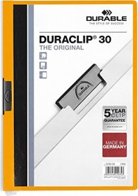 Durable Duraclip 30 Klemm-Mappe A4, orange, 25er-Pack (220009#25)