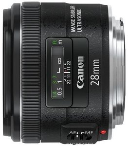 Canon Objektiv EF   28mm 2.8 IS USM (5179B005)