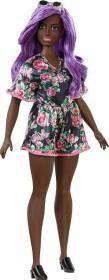 Mattel Barbie Fashionistas im Blumenoutfit mit lila Haaren Curvy (FXL58)