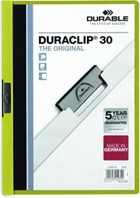 Durable Duraclip 30 Klemm-Mappe A4, grün, 25er-Pack (220005#25)