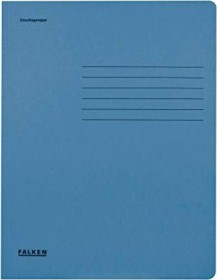 Falken Dreiflügelmappe Karton A4, blau (80001316001)