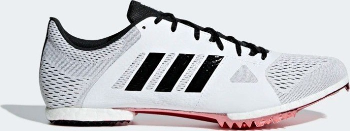 802aec8eb59 adidas adizero Middle Distance Spike ftwr white core black shock red (B37493 )