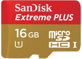 SanDisk Extreme PLUS R80/W30 microSDHC 16GB Kit, UHS-I, Class 10 (SDSDQX-016G-U46A)