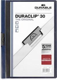 Durable Duraclip 30 Klemm-Mappe A4, nachtblau, 25er-Pack (220028#25)