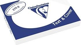 Clairefontaine Text & Cover weiß A4, ledergeprägt, 270g/m², 100 Blatt (2706C)