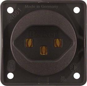 Berker Integro FLOW Steckdose Schweiz Typ 23, braun matt (962592501)