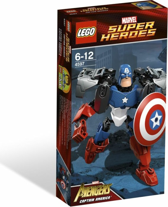 LEGO Marvel Super Heroes Buildable Figure - Captain America (4597 ...