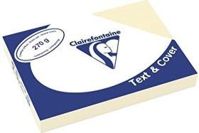 Clairefontaine Text & Cover elfenbein A4, ledergeprägt, 270g/m², 100 Blatt (2704C)