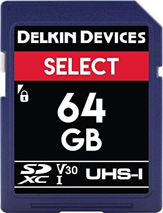 Delkin Select 266X R40/W20 SDXC 64GB, UHS-I U1, Class 10 (DDSDR26664GB) -- via Amazon Partnerprogramm
