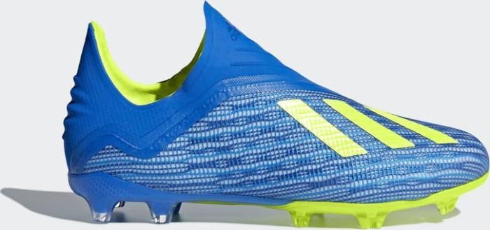 4efe56845603 adidas X 18+ FG football blue solar yellow core black (Junior ...