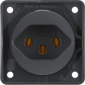 Berker Integro FLOW Steckdose Schweiz Typ 23, anthrazit matt (962592505)