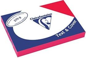Clairefontaine Text & Cover rot A4, ledergeprägt, 270g/m², 100 Blatt (2701C)