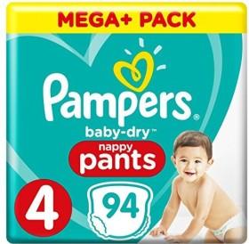 Pampers Baby-Dry Gr.4 Einwegwindel, 7-18kg, 94 Stück