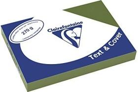 Clairefontaine Text & Cover dunkelgrün A4, ledergeprägt, 270g/m², 100 Blatt (2703C)