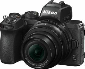 Nikon Z 50 mit Objektiv Z DX 16-50mm 3.5-6.3 VR und Bajonettadapter FTZ (VOA050K004)