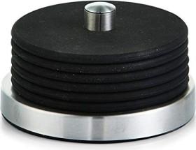 Zeller stainless steel/silicone Glasuntersetzer set black, 7-piece. (27224)