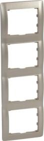 Legrand Galea Life Rahmen 4-fach senkrecht, titanium (771408)