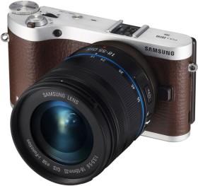 Samsung NX300 braun mit Objektiv NX 18-55mm i-Function + Galaxy Tab 2 7.0