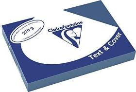 Clairefontaine Text & Cover dunkelblau A4, ledergeprägt, 270g/m², 100 Blatt (2707C)