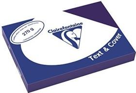 Clairefontaine Text & Cover saphirblau A4, ledergeprägt, 270g/m², 100 Blatt (2713C)