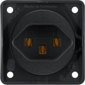 Berker Integro FLOW Steckdose Schweiz Typ 23, schwarz matt (962592503)