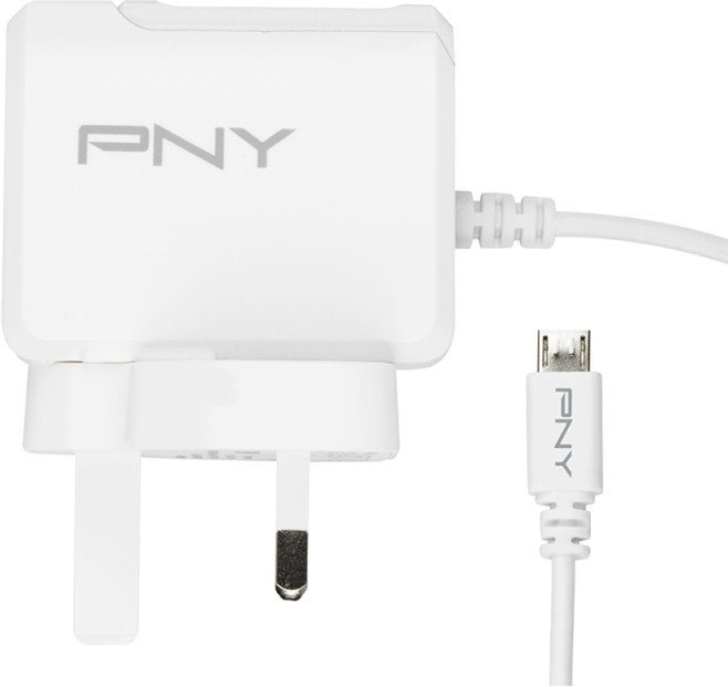 PNY Micro-USB Charger UK weiß (P-AC-UU-WUK01-RB)