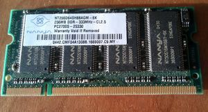Nanya DIMM 256MB, DDR-333, CL2.5 -- © bepixelung.org