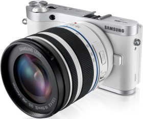 Samsung NX300 weiß mit Objektiv NX 18-55mm i-Function + Galaxy Tab 2 7.0