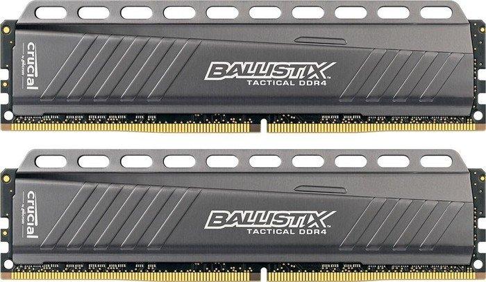 Crucial Ballistix Tactical DIMM Kit 16GB, DDR4-3000, CL15-16-16 (BLT2C8G4D30AETA/BLT2K8G4D30AETA)