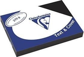Clairefontaine Text & Cover schwarz A4, ledergeprägt, 270g/m², 100 Blatt (2710C)