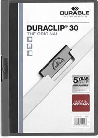 Durable Duraclip 30 Klemm-Mappe A4, anthrazit, 25er-Pack (220057#25)
