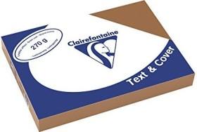 Clairefontaine Text & Cover braun A4, ledergeprägt, 270g/m², 100 Blatt (2709C)