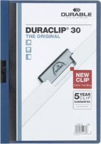 Durable Duraclip 30 Klemm-Mappe A4, dunkelblau, 25er Pack (220007#25)
