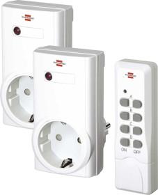 Brennenstuhl RCS 1000 N Comfort, double remote control mains sockets set (1507150)