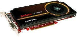 PowerColor Radeon HD 6850 Single Slot, 1GB GDDR5, DVI, HDMI, 2x mini DisplayPort (AX6850 1GBD5-I2DH)